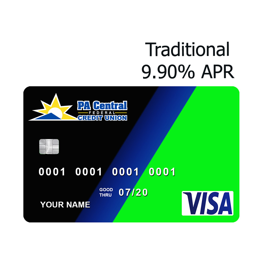 PA Central FCU Traditional 9.90% APR Credit Card