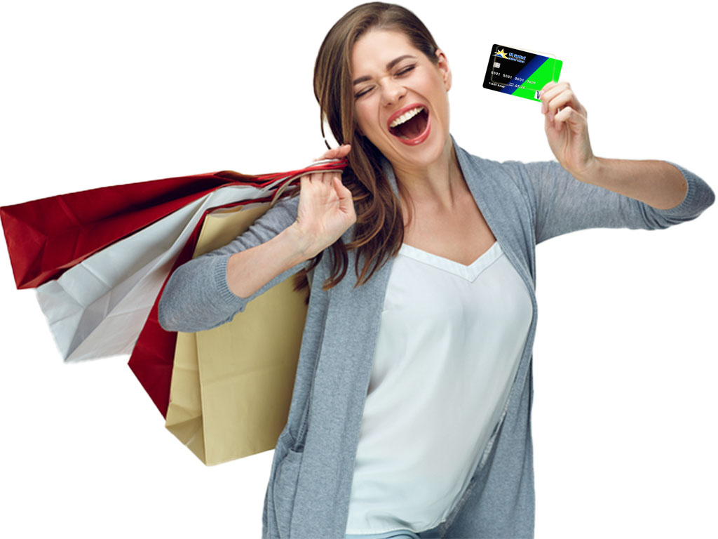 PA Central VISA Card member - shopping and enjoying a great rate.