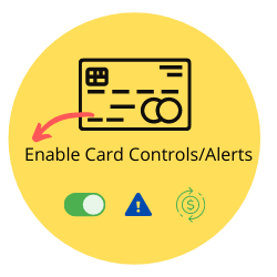 Card controls and alerts for PA Central debit and credit card
