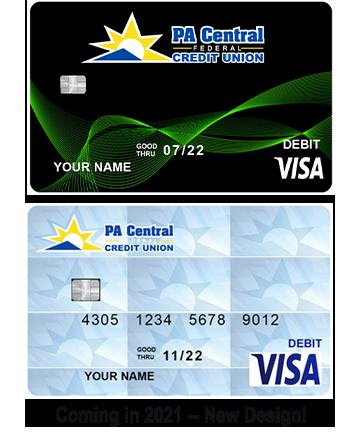 Debit card images old design and new design