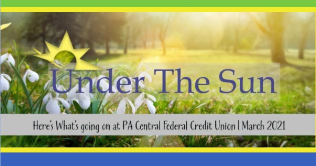 Under The Sun March 2021 newsletter header image