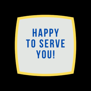 happy to serve you logo